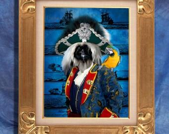 Pekingese Art Print 11 x 14 inch original illustration artwork giclee archival premium poster print By Nobility Dogs