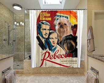 Brussels Griffon Art Shower Curtain, Dog Shower Curtains, Bathroom Decor  Rebecca Movie Poster