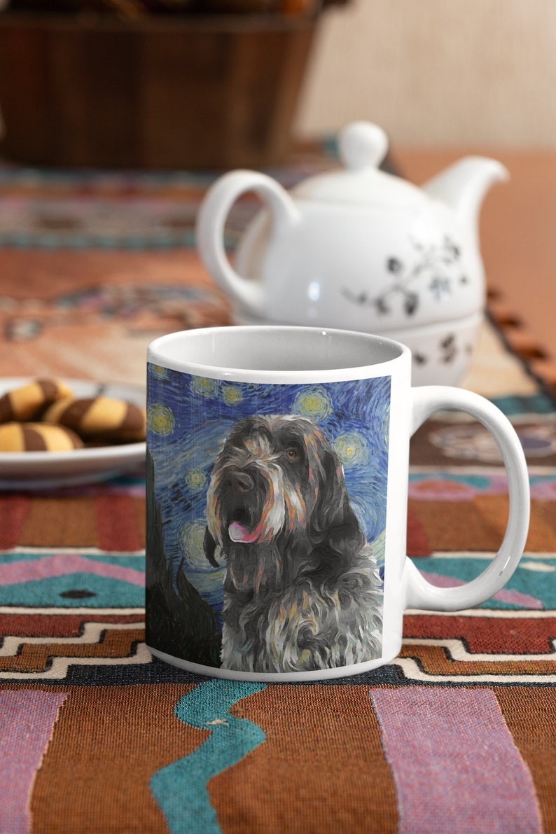 Wirehaired Pointing Griffon Gifts Starry Night Van Gogh ...