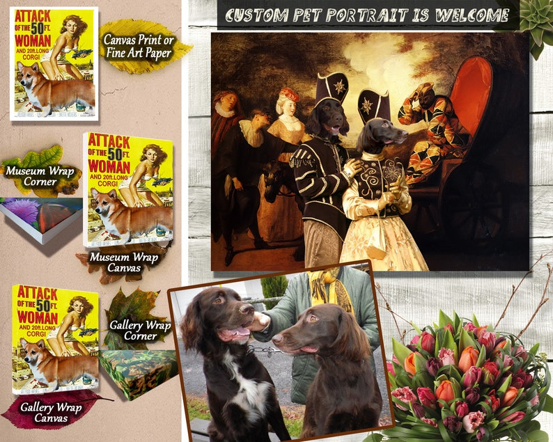 Black and Tan Cocker Spaniel Art Angel Da Vinci American Cocker Spaniel Print Dog Lover Memorial Gifts gallery wrapped canvas Nobility Dogs