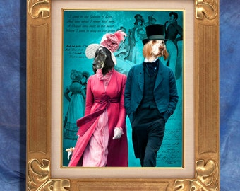 English Setter Art Print 11 x 14 inch original illustration artwork giclee archival premium poster print By Nobility Dogs