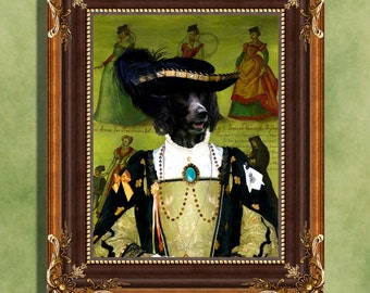 Large Munsterlander Art Print 11 x 14 inch original illustration artwork giclee archival premium poster print By Nobility Dogs