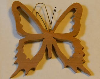 Swallowtail Butterfly #5 Scroll Sawn Collectible Wooden Butterflies Embellishment Ceiling Fan Pull Pendant Rustic Room Spring Decoration