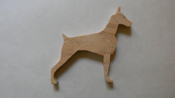Doberman pinscher dog art tile coaster gift the dinner party