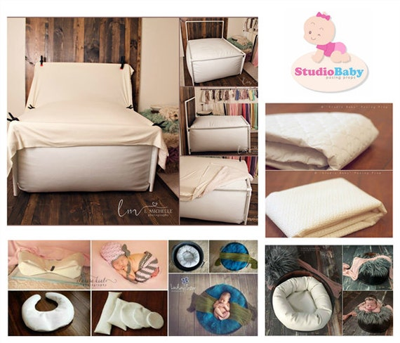 Professional Posing Aid,Baby Photo Prop /& Contoured Posing Bed for Photo Home Accessories Newborn Bed Props for Photography Wood Bed Positioner for Posing Baby
