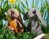 Spring Rabbit Powerpoint tutorial E-book and pattern, rabbit pattern, DIY rabbit, bunny, Easter, hand-sewing, felt plush,