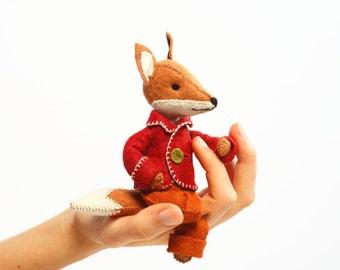 Felix fox kit, Felt fox ornament, Felt Animal Craft Kit - Fox sewing kit,  hand-sewing kit, beginner sewing kit, DIY sewing, fantastic fox