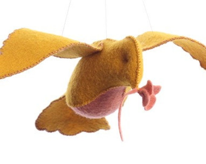 Yellow and Pink Bird in flight kit