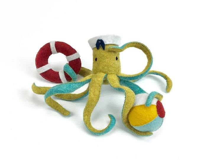 Octopus kit, Ellie Octopus kit, Plush octopus, Octopus doll, Stuffed octopus, Octopus ornament, beach octopus