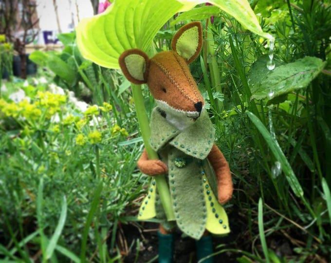 Fox Fairy costume PDF pattern, felt flower costume pattern, miniature clothing, doll coat pattern, DIY felt, DIY doll clothing