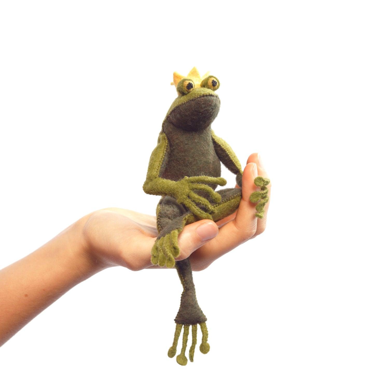 Der Froschkönig kit Filz Tier Bastelset Frosch Nähzeug