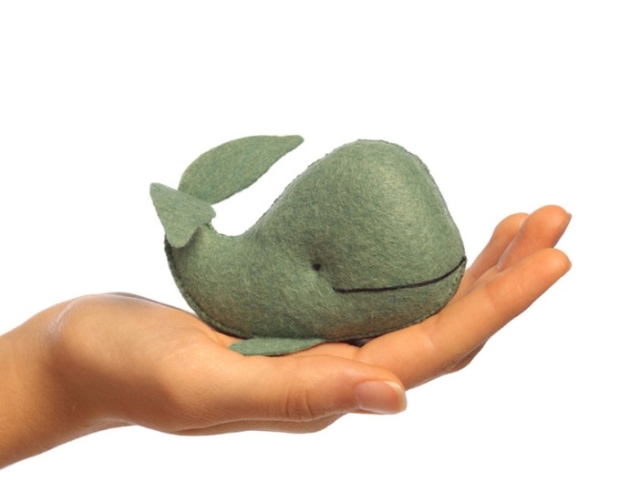 Whale PDF pattern, DIY sewing, crafts for kids, beginner sewing, plush whale,