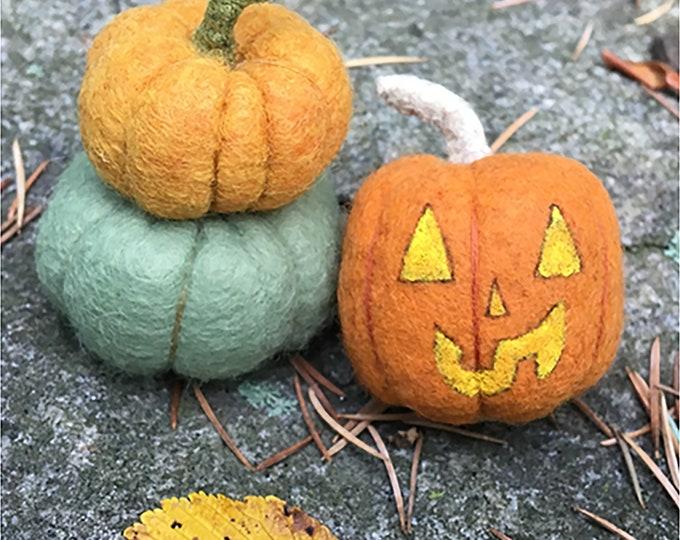 Felt pumpkin and Jack-o-lantern PDF pattern