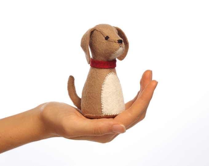 Puppy PDF pattern, Felt ornament, beginner sewing, Felt Animal sewing pattern - Stuffed dog sewing pattern - Animal Pattern, puppy PDF