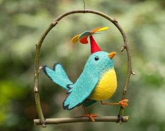 Twirly Bird Pattern, bird pattern, Bird sewing pattern, plush bird, felt bird