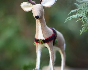 Reindeer PDF pattern, DIY sewing pattern, beginner sewing, holiday reindeer pattern, felt reindeer, hand sewing, Holiday decoration,