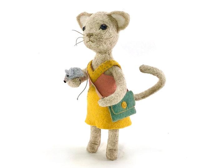 Chloe Cat hand-stitching kit, cat sewing kit, Cat doll
