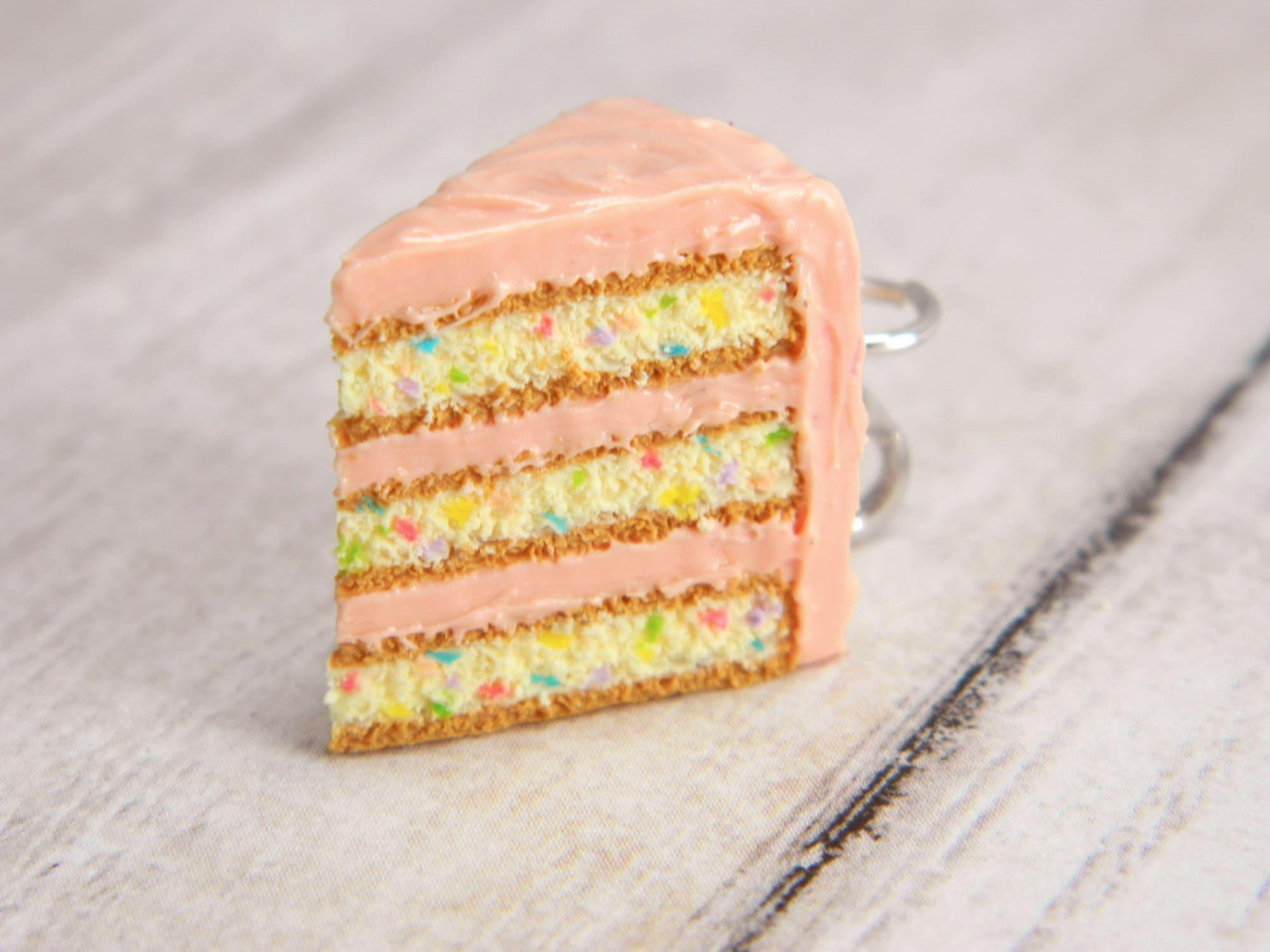 Prime Pink Birthday Cake Slice Charm Pink Cake Charm Birthday Etsy Personalised Birthday Cards Akebfashionlily Jamesorg