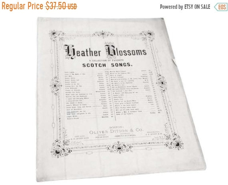 ON SALE 1840 John Anderson My Jo Joe Sheet Music Heather Blossoms Scotch  Songs Sinclair Oliver Ditson Scottish Antique Sheet Music PRE Civil