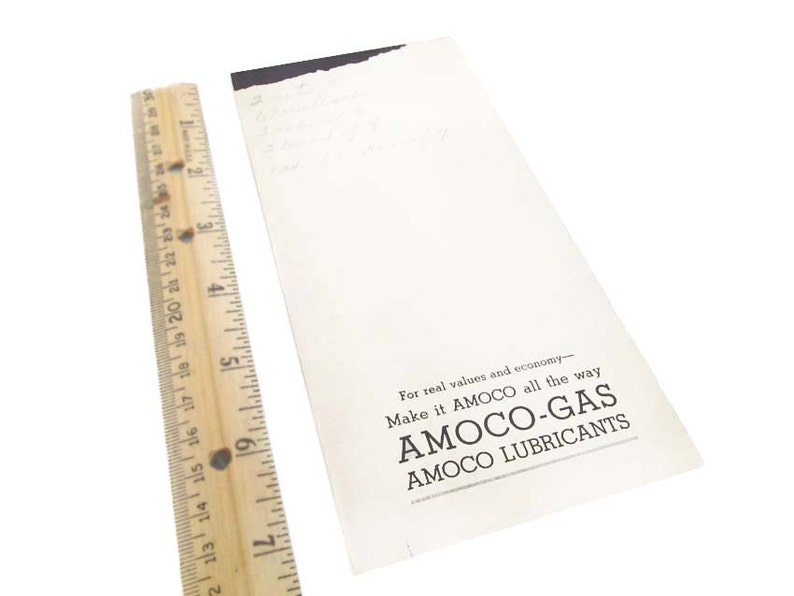 Amoco Gas Oil Logo Bridge Game Score Pad Card Game Amoco Gasoline  Advertising Illustration of Gas Pump Globe 1940's Score Sheets