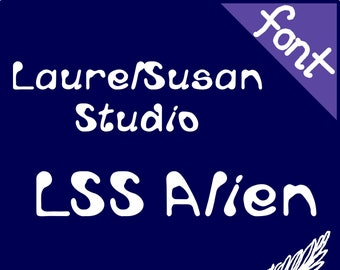 Font Commercial and Personal License LSS Alien Print 200+ Glyphs OTF  OpenType 4d8df9340