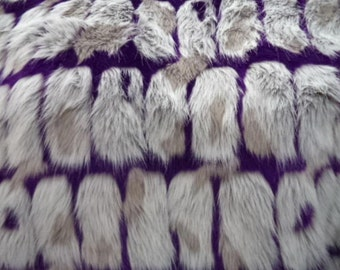 Purple and Grey Brick Faux Fur Fabric Per yard bd034c7d19c77