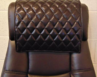 Charmant Padded Brown Quilted Vinyl, 14x30, Sofa, Loveseat, Chaise, Theater Seat, RV  Cover, Chair, Headrest Pad, Recliner Head Cover, Protector
