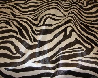Libby Zebra Print Cotton Upholstery Fabric 54