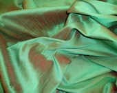 Pine Shantung Dupioni Faux Silk fabric by the yard 58 quot Wide dress pillow tables
