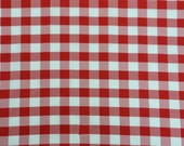 Poly poplin checkers red 100 Polyester picnic fabric 60 quot wide sold by the yard