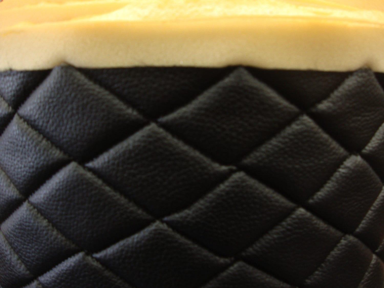 Vinyl Leather Champion Faux Vinyl Black Quilted Auto Etsy
