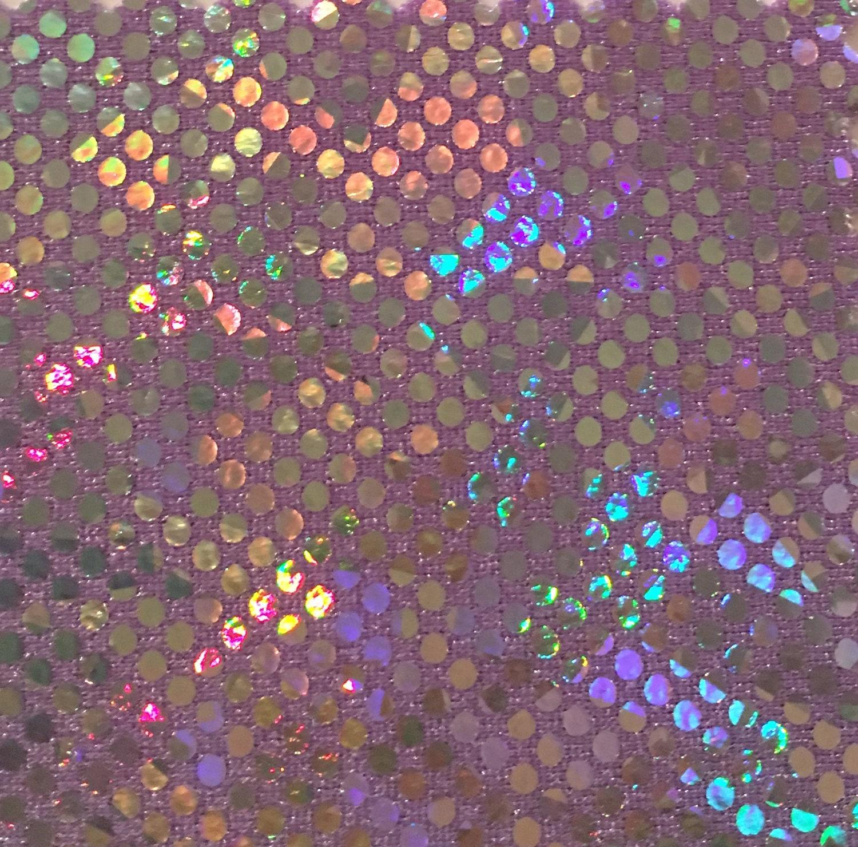 B\'dazzled de holograma - lila 4 vías tramo Spandex tela de plata de ...