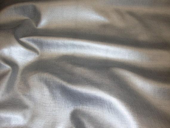 Vinyl Faux Fake Leather Silver Metallic Distressed Etsy
