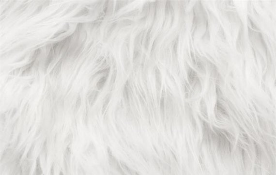 faux fur fabric long pile white gorilla 60 wide sold by etsy. Black Bedroom Furniture Sets. Home Design Ideas