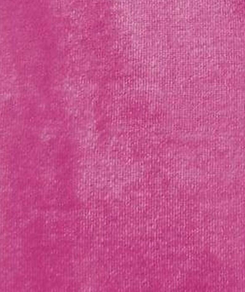 Fuschia 2 Way Stretch Plush Velvet Dance Wear Home Decor Fabric By The Yard 60 Wide