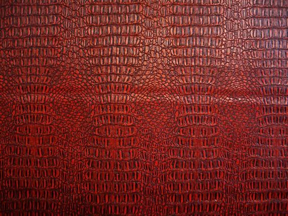 Faux Fake Leather Vinyl Gator Pattern Textured Red Black Etsy