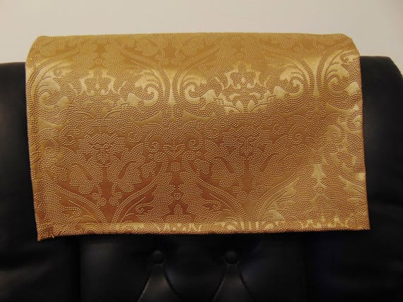 Admirable Vinyl Gold Parisian Embossed 14X30 Sofa Loveseat Chaise Cover Chair Caps Headrest Pad Recliner Head Cover Furniture Protector Machost Co Dining Chair Design Ideas Machostcouk