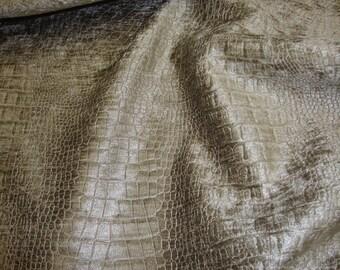 Taupe Crocodile Upholstery henille Fabric per yard