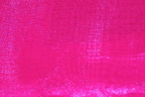 10 YARDS Hot pink crystal Organza  sheer fabric polyester 58 wide