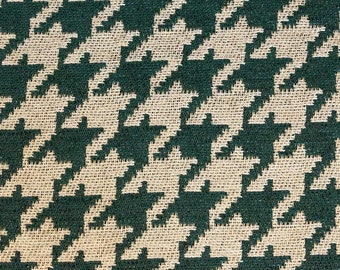 """Hunter houndstooth Chenille Upholstery Drapery fabric by the yard 54"""" Wide"""