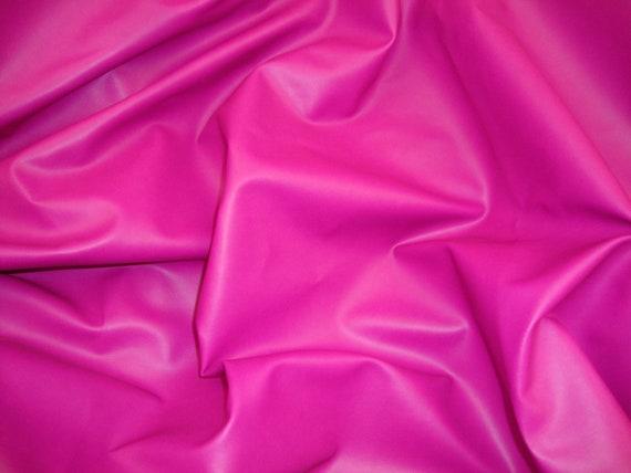 Fuschia Faux Vinyl Upholstery Fabric 55 Per Yard Etsy