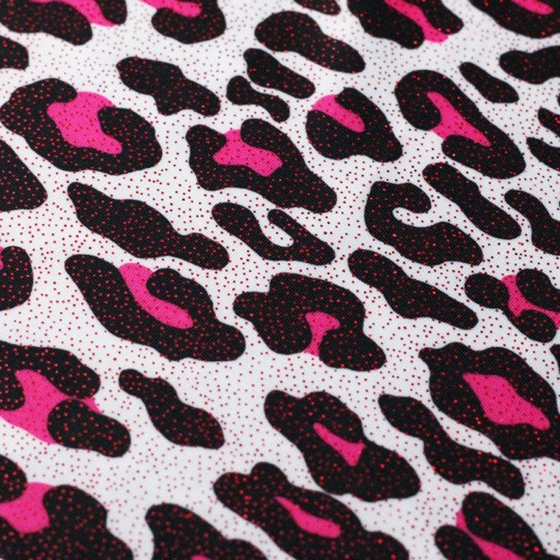 White neon pink bedrock foil Nylon SPandex wet dance swimsuits 4 way stretch 58 wide  Sportswear Athletic yoga pants