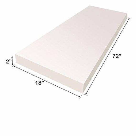 Upholstery Foam Cushion Sheet 2x18x72 Medium | Etsy