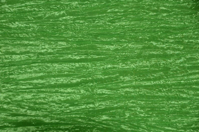 linens dress Fabric By 25 yards Yard 5052 Tablecloths Creased Taffeta LIME Crushed