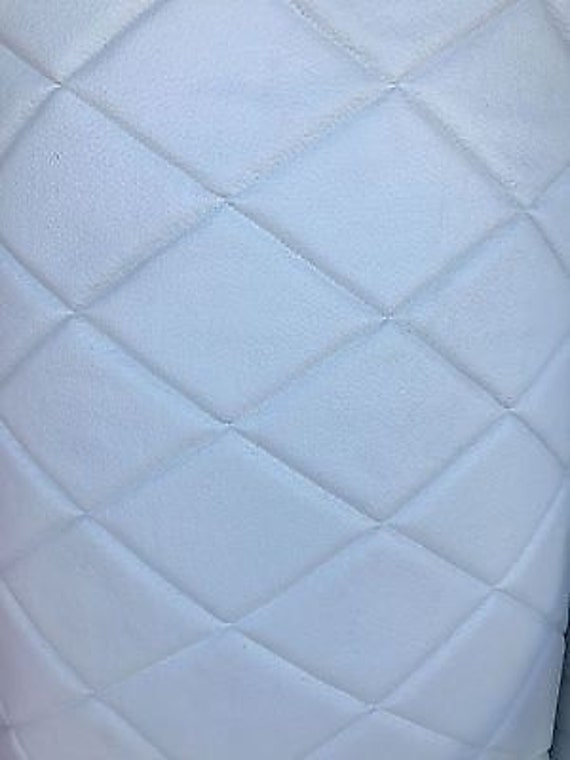 Vinyl Leather Faux Vinyl Upholstery White 6x4 Etsy