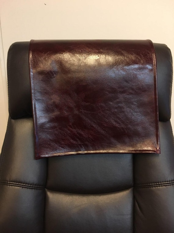 Recliner Head Rest Cover Vinyl Brown Reptile 14x30 Sofa Love seat Chaise