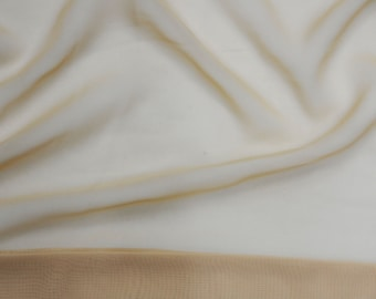 """Champagne Chiffon soft Sheer  60"""" Wide Fabric By The yard HOME DECOR"""