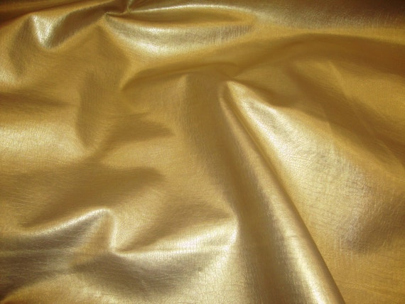 Vinyl Faux Leather Gold Metallic Distressed Upholstery Fabric Etsy