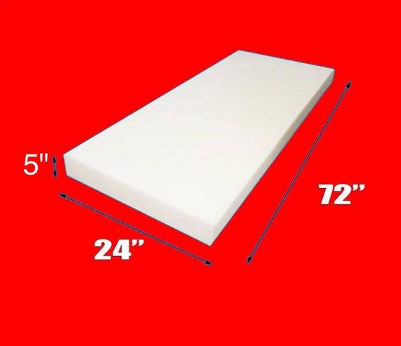 "30/"" Wide x 72/"" Long Medium Density chair cushion Foam Upholstery 6/"" Thick"