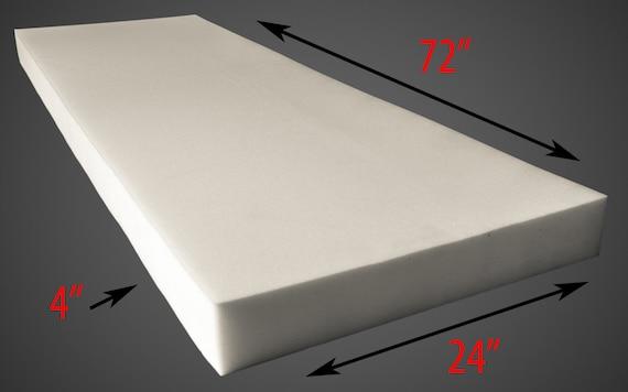 "Upholstery Foam 4/"" Thick 24/"" Wide x 24/"" Long Medium Density"